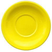International Tableware CAN-2-Y Cancun 5 1/2 inch Yellow Stoneware Narrow Rim Saucer - 36/Case