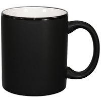International Tableware 87168-02/05MF-05C Hilo 11 oz. White In / Black Out Stoneware C-Handle Mug - 12/Case