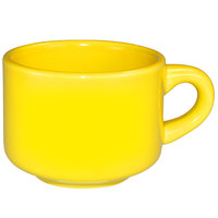 International Tableware CA-23-Y Cancun 7 oz. Yellow Stoneware Stacking Cup - 36/Case