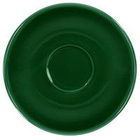 International Tableware CA-36-G Cancun 5 1/4 inch Green Stoneware A.D. Saucer - 36/Case