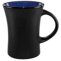 International Tableware 83570-2899/05MF-05C Hilo 11 oz. Country Blue In / Black Out Stoneware Venturi Flared Mug - 12/Case