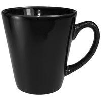 International Tableware 839-05 Cancun 13 oz. Black Stoneware Funnel Cup - 36/Case