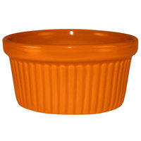 International Tableware RAMF-3-O Cancun 3 oz. Orange Stoneware Fluted Ramekin - 36/Case