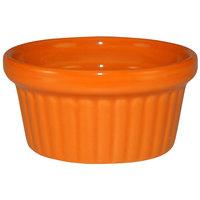 International Tableware RAMF-2-O Cancun 2 oz. Orange Stoneware Fluted Ramekin - 36/Case