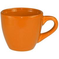 International Tableware CA-35-O Cancun 3.5 oz. Orange Stoneware A.D. Demi / Espresso Cup - 36/Case