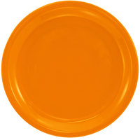 International Tableware CAN-9-O Cancun 9 1/2 inch Orange Stoneware Rolled Edge Narrow Rim Plate - 24/Case