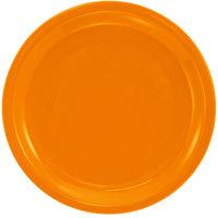 International Tableware CAN-9-O Cancun 9 1/2 inch Orange Stoneware Rolled Edge Narrow Rim Plate - 24/Case
