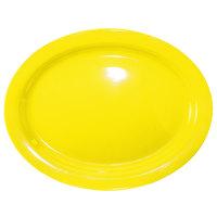 International Tableware CAN-13-Y Cancun 11 3/4 inch x 9 1/4 inch Yellow Stoneware Narrow Rim Platter - 12/Case