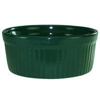 International Tableware RAMF-8-G Cancun 6 oz. Green Stoneware Fluted Souffle / Ramekin - 36/Case