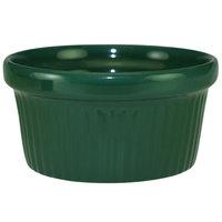 International Tableware RAMF-4-G Cancun 4 oz. Green Stoneware Fluted Ramekin - 36/Case