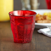 Duralex 1027SR06SD Picardie 8.75 oz. Stackable Red Glass Tumbler - 6/Pack