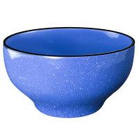 International Tableware CF-43 Campfire 16 oz. Speckle Ocean Blue Stoneware Footed Bowl - 24/Case