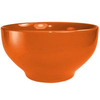 International Tableware CA-43-O Cancun 16 oz. Orange Stoneware Footed Bowl - 24/Case