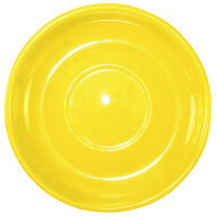 International Tableware 822-242S Cancun 6 1/8 inch Yellow Stoneware Latte Saucer - 24/Case
