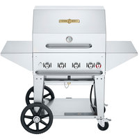 Crown Verity MCB-30PRO Professional Series Liquid Propane 30 inch Mobile Outdoor Grill with Accessory Package