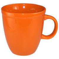 International Tableware 81950-210 Cancun 17 oz. Orange Stoneware Mocha Mug - 36/Case