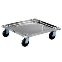 Vollrath 97190 Signature Steel Rack Dolly (No Handle) - 20 1/2 inch x 20 1/2 inch x 5 7/8 inch