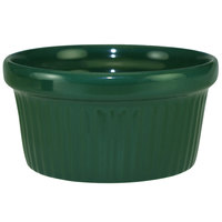 International Tableware RAMF-3-G Cancun 3 oz. Green Stoneware Fluted Ramekin - 36/Case