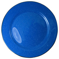 International Tableware CF-7 Campfire 7 1/8 inch Speckle Ocean Blue Rolled Edge Stoneware Plate - 36/Case