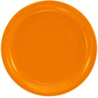International Tableware CAN-16-O Cancun 10 5/8 inch Orange Stoneware Rolled Edge Narrow Rim Plate - 12/Case