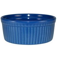 International Tableware RAMF-8-LB Cancun 6 oz. Light Blue Stoneware Fluted Souffle / Ramekin - 36/Case