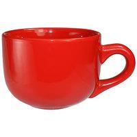 International Tableware 822-2194 Cancun 14 oz. Crimson Red Stoneware Latte Cup - 24/Case