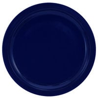 International Tableware CAN-8-CB Cancun 9 inch Cobalt Blue Stoneware Rolled Edge Narrow Rim Plate - 24/Case