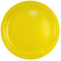 International Tableware CAN-8-Y Cancun 9 inch Yellow Stoneware Rolled Edge Narrow Rim Plate - 24/Case