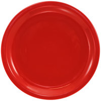 International Tableware CAN-16-CR Cancun 10 5/8 inch Crimson Red Stoneware Rolled Edge Narrow Rim Plate - 12/Case