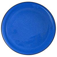 International Tableware CFN-7 Campfire 7 1/4 inch Speckle Ocean Blue Narrow Rim Stoneware Plate - 36/Case