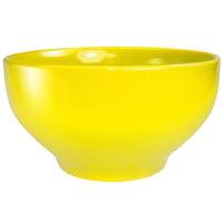 International Tableware CA-43-Y Cancun 16 oz. Yellow Stoneware Footed Bowl - 24/Case