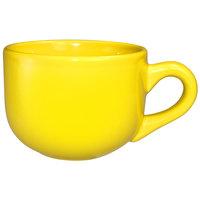 International Tableware 822-242 Cancun 14 oz. Yellow Stoneware Latte Cup - 24/Case