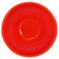 International Tableware CA-36-CR Cancun 5 1/8 inch Crimson Red Stoneware A.D. Saucer - 36/Case