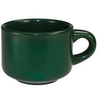 International Tableware CA-23-G Cancun 7 oz. Green Stoneware Stacking Cup - 36/Case
