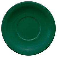 International Tableware CAN-2-G Cancun 5 1/2 inch Green Stoneware Narrow Rim Saucer - 36/Case