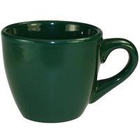 International Tableware CA-35-G Cancun 3.5 oz. Green Stoneware A.D. Demi / Espresso Cup - 36/Case