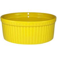 International Tableware RAMF-10-Y Cancun 8 oz. Yellow Stoneware Fluted Ramekin - 36/Case