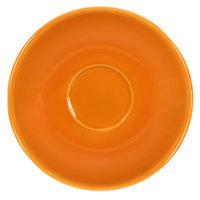 International Tableware CA-36-O Cancun 5 1/8 inch Orange Stoneware A.D. Saucer - 36/Case