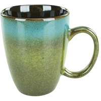International Tableware 4415-146 Sioux Falls 15 oz. Blue to Green Stoneware Endeavor Cup - 24/Case