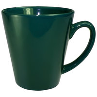 International Tableware 839-67 Cancun 13 oz. Green Stoneware Funnel Cup - 36/Case