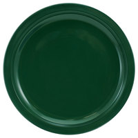 International Tableware CAN-9-G Cancun 9 1/2 inch Green Stoneware Rolled Edge Narrow Rim Plate - 24/Case
