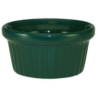 International Tableware RAMF-2-G Cancun 2 oz. Green Stoneware Fluted Ramekin - 36/Case