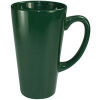 International Tableware 867-67 Cancun 16 oz. Green Stoneware Funnel Cup - 24/Case