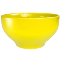 International Tableware CA-45-Y Cancun 144 oz. Yellow Stoneware Footed Bowl - 6/Case
