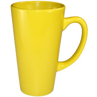 International Tableware 867-242 Cancun 16 oz. Yellow Stoneware Funnel Cup - 24/Case