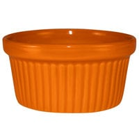 International Tableware RAMF-4-O Cancun 4 oz. Orange Stoneware Fluted Ramekin - 36/Case