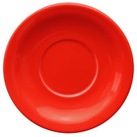International Tableware CAN-2-CR Cancun 5 1/2 inch Crimson Red Stoneware Narrow Rim Saucer - 36/Case
