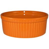 International Tableware RAMF-8-O Cancun 6 oz. Orange Stoneware Fluted Souffle / Ramekin - 36/Case