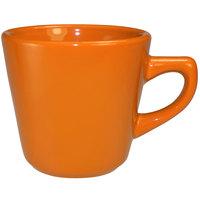 International Tableware CA-1-O Cancun 7 oz. Orange Stoneware Tall Cup - 36/Case