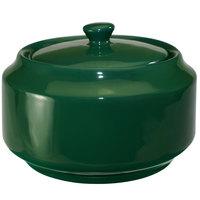 International Tableware CA-61-G Cancun 13 oz. Green Stoneware Sugar Bowl with Lid - 12/Case
